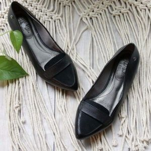 ~LIFE STRIDE~ Qwin Loafers Black Quilted Pointed